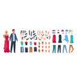 character constructor happy man and woman vector image vector image