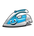 Cheerful cartoon electric iron vector image vector image