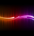 colorful digital shining equalizer with waves vector image vector image
