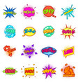 comic sound cloud set icons set cartoon style vector image vector image