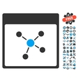 Connections Calendar Page Icon With Bonus vector image vector image