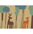 Couple deer love forest animals vector image vector image