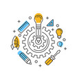 creative innovation flat line design vector image