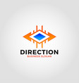 direction logo - two ways arrow vector image