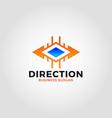 direction logo - two ways arrow vector image vector image
