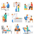 doctor and patient medical character vector image