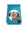 dog bag food mascot vector image vector image