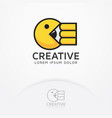 eat creativity vector image