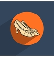 Female shoes flat doodle icon vector image vector image