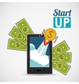 financial start up design vector image vector image