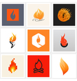 Flame - Set of posters and design elements vector image