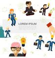 flat business idea template vector image vector image