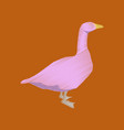 flat shading style icon goose vector image vector image