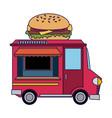 food truck restaurant vector image
