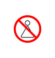 forbidden woman icon can be used for web logo vector image