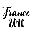 France 2016 black and white print vector image