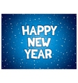 Happy new year inscription vector image