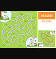 help bunny to find way game for kids vector image vector image