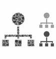 Hierarchy composition icon ragged parts