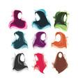 hijab set premium vector image