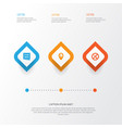 holiday icons set collection of iftar location vector image vector image