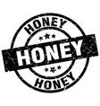 honey round grunge black stamp vector image vector image