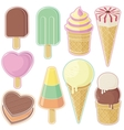 icecream icons vector image vector image