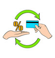 interest on credit card icon cartoon vector image vector image