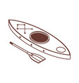 isometric kayak boat line icon vector image