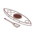 isometric kayak boat line icon vector image