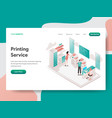 landing page template printing service vector image