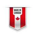 Made in Canada flag ribbon vector image vector image