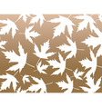 maple pattern vector image vector image