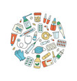 meds drugs pills bottles and health care vector image vector image