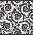 modern black and white spots seamless pattern vector image