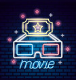 movie time neon vector image