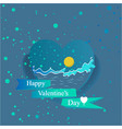ocean valentines day vector image vector image
