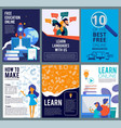 online education flyers brochure cover template vector image vector image