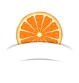 Orange with paper banner vector image vector image