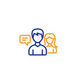 people talking line icon conversation sign vector image