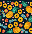 pineapple seamless patterntropical fruit vector image vector image