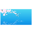 Pink Cherry Blossom vector image vector image