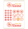 Retro Vintage Knit Web icons vector image