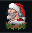 santa claus screamed with an angry but cool face vector image vector image