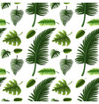 seamless design with many green leaves vector image vector image