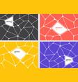set abstract gray orange yellow purple vector image vector image