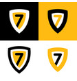 set logo in black yellow and white vector image vector image