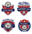 set volleyball champions league emblems design vector image vector image