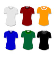 Set women t-shirt vector image vector image