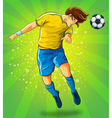 Soccer player head shooting a ball vector | Price: 5 Credits (USD $5)